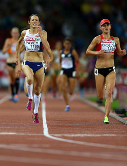 Team GB's Jo Pavey on the way to becoming the 10,000m European Champion at the ripe old age of 40