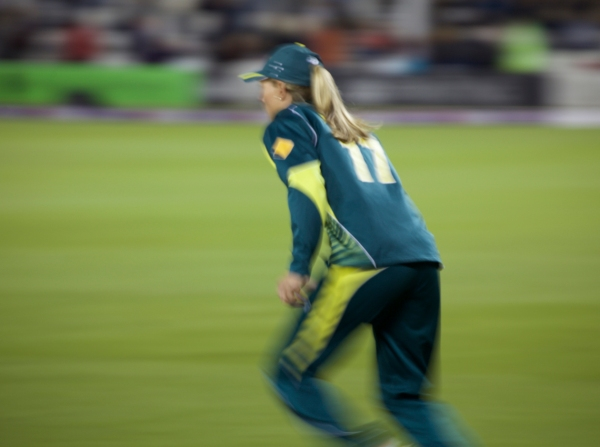 Aussie captain Meg Lanning was out warming up her fielding in anticipation of the battle ahead.