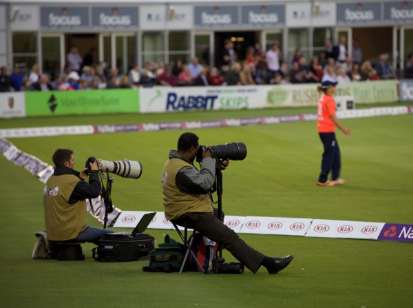 Photographers were in position...