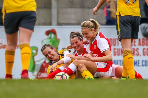 Kelly Smith players laughing