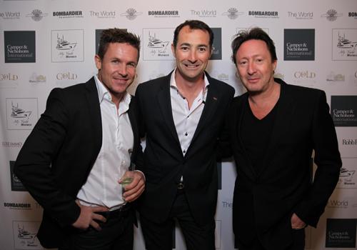 Felix Baumgartner, Nicholas Frankl, Julian-Lennon at My Yacht Monaco